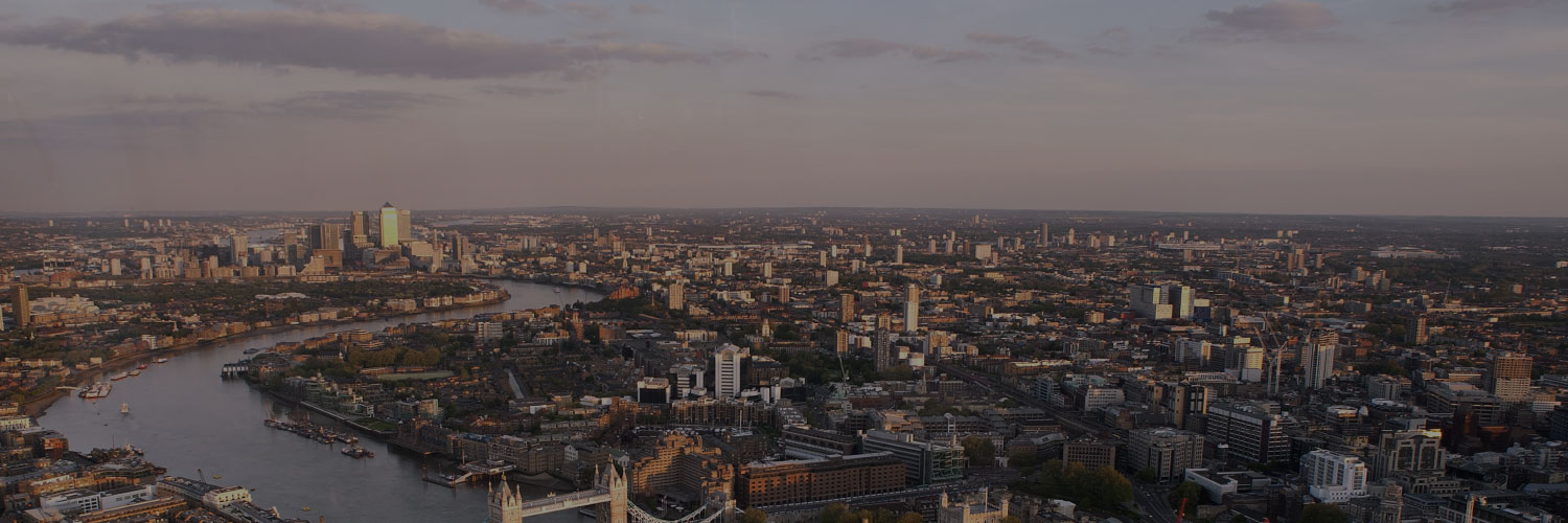 View from top on London